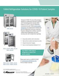 Refrigeration Solutions for COVID-19 Patient Samples