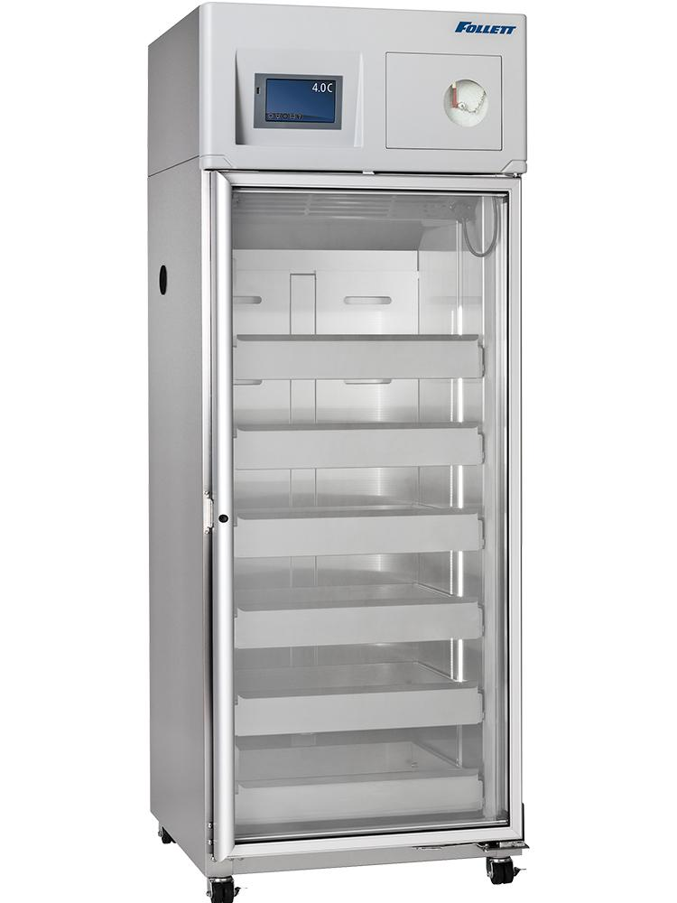 Follett single door blood bank refrigerator