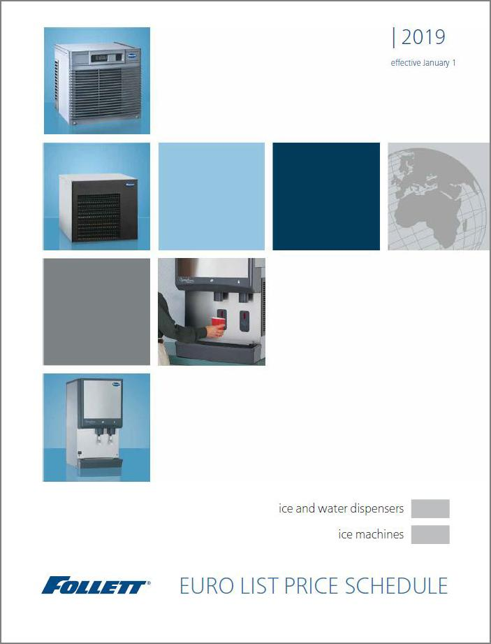 ice machines and dispenser products price list Euros