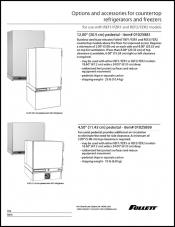 Countertop REF/FZR Accessories spec sheet