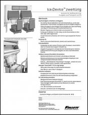 Double door Ice DevIce ice storage and dispensing systems (German)