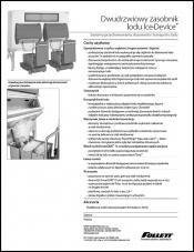 Double door Ice DevIce ice storage and dispensing systems (Polish)