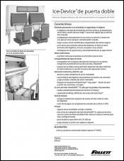Double door Ice DevIce ice storage and dispensing systems (Spanish)