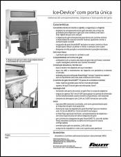 Single door Ice DevIce ice storage and dispensing systems (Portuguese)