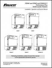 FZR4P and FZR5P and FZR5PLP-T Performance Plus Undercounter Freezers before serial number K25542