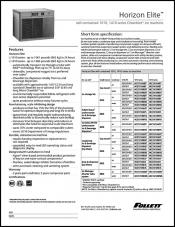 Horizon Elite Chewblet ice machine - self-contained 1010/1410 series