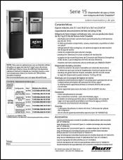 15 Series Countertop and Freestanding Ice and Water Dispensers (Spanish)