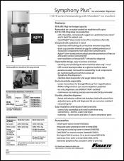 Symphony Plus Ice and Water Dispenser with Chewblet Ice Machine - 110 FB series freestanding
