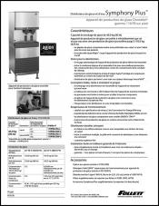 Symphony Plus Ice and Water Dispenser with Chewblet Ice Machine - 110 FB series freestanding (French)