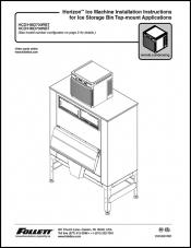 Horizon Ice Machine Installation Instructions for Ice Storage Bin Top-mount Applications