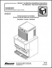 Horizon Ice Machine Installation Instructions for Harmony Top-mount Applications