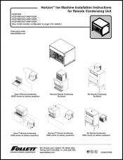 Horizon ice machine installation instructions for remote condensing unit