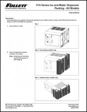 7/15 Series Ice and Water Dispenser Packing - All Models
