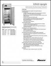 FZR20 Upright Laboratory and Pharmacy Freezer