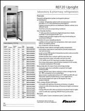 REF20 Upright Laboratory and Pharmacy Refrigerator