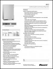 REF2 Medical-Grade Countertop Refrigerator
