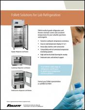 Follett Solutions for Laboratory Refrigeration