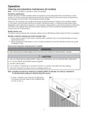 Horizon 700 Series Cleaning Instructions