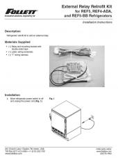 External Relay Retrofit Kit for REF5, REF4-ADA, and REF5-BB Refrigerators