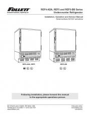 REF4-ADA, REF5, & REF5-BB Undercounter Refrigerator for units above serial number D27207