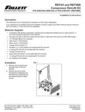 Compressor Retrofit Kit for Undercounter Refrigerators