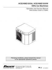 HCE/HME1000A, HCE/HME1000W 50Hz Ice Machines for serial numbers C20001 to C33984