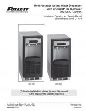 Undercounter Ice and Water Dispenser 7UC100A, 7UD100A serial numbers before D17618