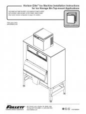 Horizon Elite Ice Machine 1810 and 2110 Installation Instructions for Ice Storage Bin Top-mount Applications