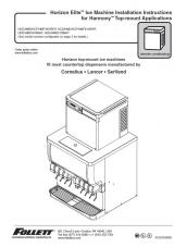 Horizon Elite Ice Machine Installation Instructions for Harmony Top-mount Applications