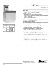 Vision VU155N Series ice and water dispenser