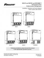 REF4P, REF5P, REF5BBP-T Performance Plus Undercounter Refrigerators after serial number K25541
