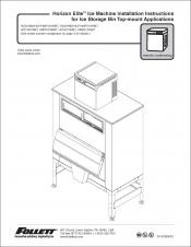 Horizon Elite Ice Machine 1810/2110 Models Installation Instructions for Ice Storage Bin Top-mount Applications