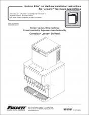 Horizon Elite Ice Machine 1810/2110 Models Installation Instructions for Harmony Top-mount Applications