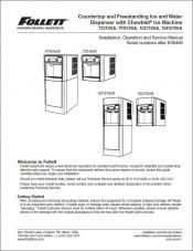 7 Series and 15 Series Countertop and Freestanding Ice and Water Dispensers above serial number K39468