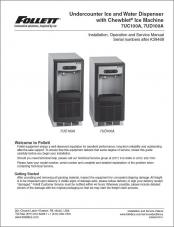 Undercounter Ice and Water Dispenser 7UC100A, 7UD100A serial number above K39468