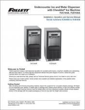 Undercounter Ice and Water Dispenser 7UC100A, 7UD100A with serial numbers K39469 to K46456