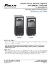 Undercounter Ice and Water Dispenser 7UC100A, 7UD100A above serial number K46456