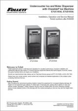 E7UC and E7UD Undercounter Ice and Water Dispenser with Chewblet® Ice Machine above serial number K46456