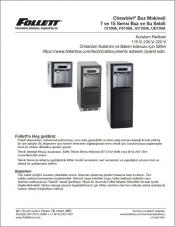 7 and 15 Series Ice and Water Dispensers 115 V, 230 V, 220 V Installation Instructions (Turkish)