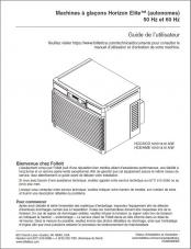 Horizon Elite 1010 and 1410 Ice Machines 50 Hz and 60 Hz Installation Instructions (French)