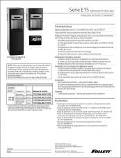 E15 Series countertop and freestanding ice and water dispensers (Spanish)