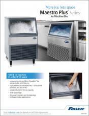 Maestro Plus ice machine bin - more ice, less space