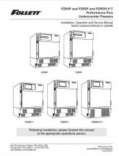 FZR4P and FZR5P and FZR5PLP-T Performance Plus Undercounter Freezer models serial number K25542 to L28496