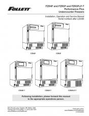 FZR4P and FZR5P and FZR5PLP-T Performance Plus Undercounter Freezer models after serial number L28496