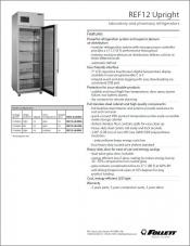 REF12 upright laboratory and pharmacy refrigerators
