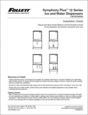 Symphony Plus 12 Series Ice and Water Dispensers C/E12CI425A Installation Guide