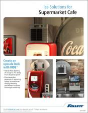 Ice Solutions for Supermarket Cafe