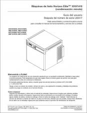 Horizon Elite 1010/1410 Ice Machines, Remote Condensing after serial number L60417 (Spanish)
