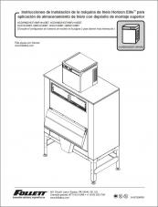 Horizon Elite Ice Machine 1810/2110 Models Installation Instructions for Ice Storage Bin Top-mount Applications (Spanish)