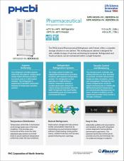 Pharmaceutical 11.5 cu ft Refrigerator and 4.8 cu ft Freezer